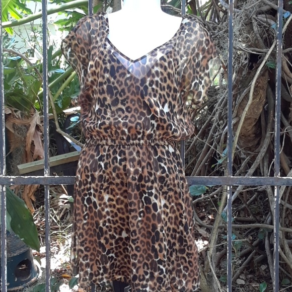 Express Dresses & Skirts - Sexy leopard dress by Express size small